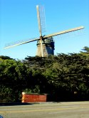 Windmill at Great Highway Entrance to Golden Gate Park in San Francisco, CA